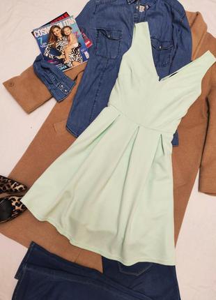 Платье салатовое мятное ментоловое эластичное new look