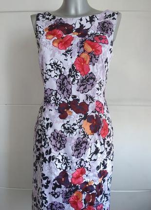 Элегантное платье coast с принтом нежных цветов и вышивкой