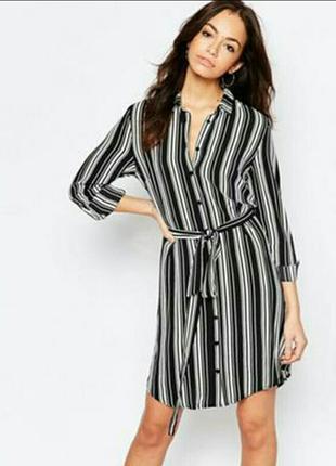Платье рубашка в полоску new look petite