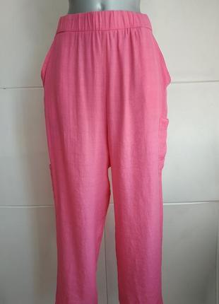 Летние брюки карго asos розового цвета