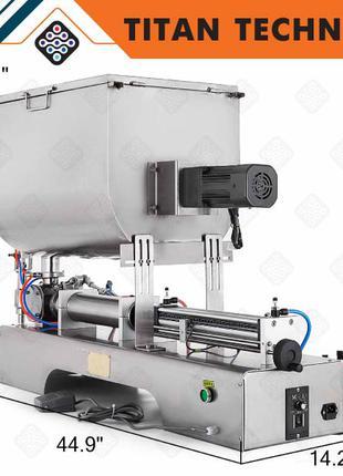 Горизонтальный пневматический дозатор для жидких продуктов