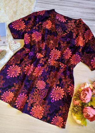 #розвантажуюсь красивое платье на запах в цветы размер 20- 22 ...