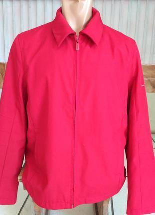 Esprit. красная ветровка, демисезонная куртка, размер l