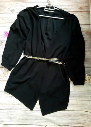 Стильный пиджак накидка кардиган батал