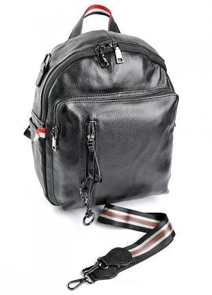 Женская кожаная сумка рюкзак жіночий шкіряний портфель кожаный