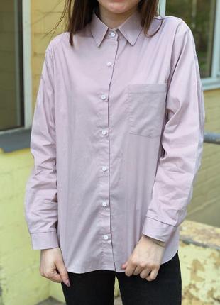 Хлопковая розовая рубашка