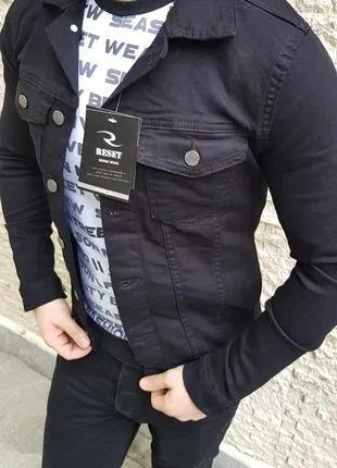 Куртка  пиджак джинсовая мужская