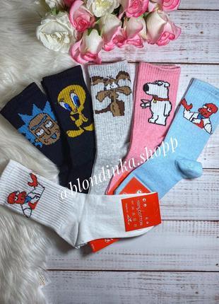 Женские носки с прикольными рисунками