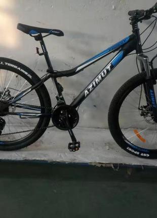"""Спортивный велосипед 26 дюймов Azimut Forest рама 13"""" черно-синий"""