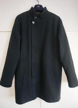 Стильное мужское пальто dkny из комбинированной ткани