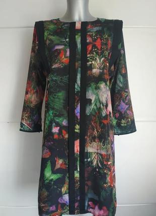 Стильное платье  класса люкс ted baker с принтом красивых цветов