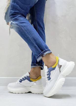 Кроссовки модные разноцвет белые білі жіночі кросівки