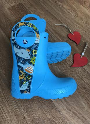 Сапоги crocs для дождя размер j2 33-34