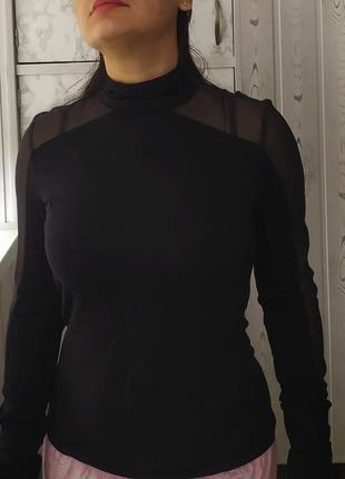 Karen millen реглан кофта гольф прозрачные рукава