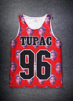 Майка футболка тупак 2pac hip hop хип хоп стиль нба