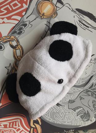 Шапка панда прикольная мягкая удобная распродажа