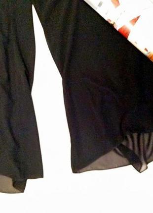 Нарядные двухслойные шифоновые брюки cattiva