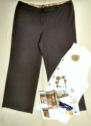 Прямые брюки цвета горького шоколада 18 размер