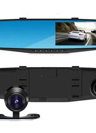Видеорегистратор зеркало с камерой заднего вида Vehicle Blackbox