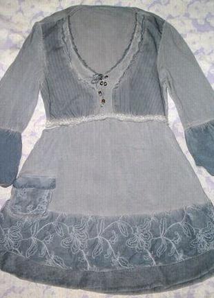 Легкое платье, туника, блуза с вышивкой