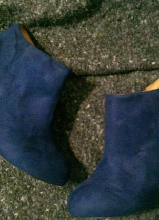 Ботильоны la strada ботинки туфли замшевые