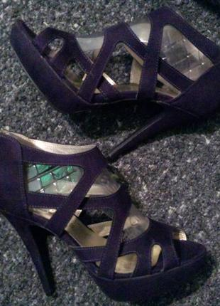 New look босоножки туфли сандали фиолетовые