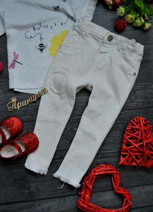 Белые джинсы штаны river island 12-18месяцев