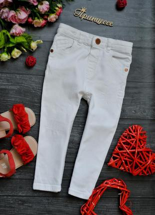 Белые джинсы штаны с потертостями river island 18-24месяца