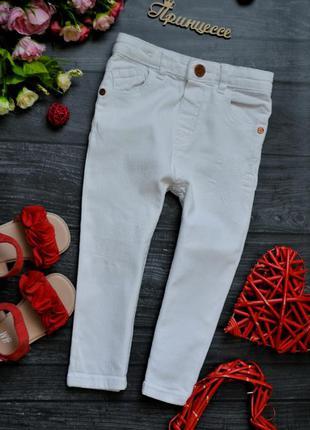 Белые джинсы штаны с потертостями river island 2-3года