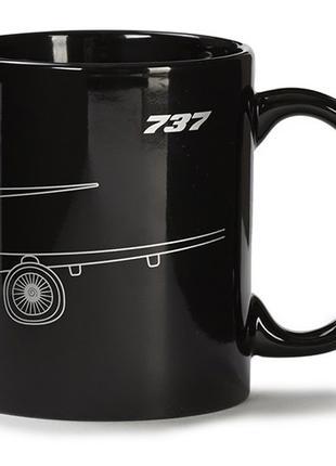 Чашка Boeing 737 Midnight Silver Mug