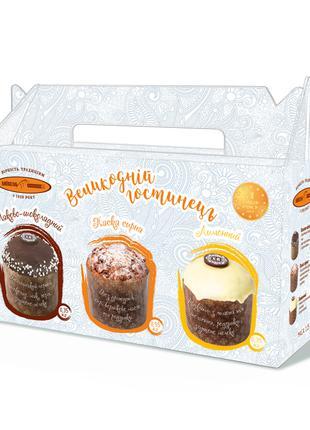 Набір кексів «Великодній гостинець» 1,25 кг упакований в коробку