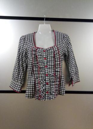 Женская рубашка в клетку. рубашка с красивой талией.