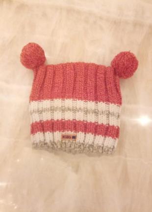 Детская вязаная шапка унисекс