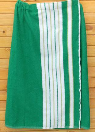 Килт для бани, размер 90х150 см, зеленый унисекс