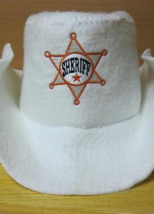 """Шапка для бани/сауны """"шериф"""". есть серая и молочная."""