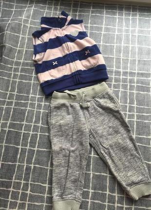 Детский велюровый костюм комплект штаны и жилетка. carter's. m...