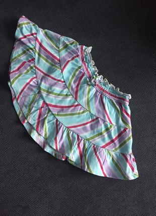 Стильная полосатая юбочка с трусиками для девочки 18-24 мес cr...