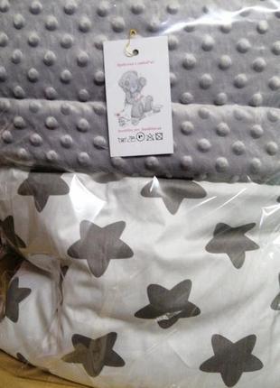 Двухсторонее плед одеялко конверт. плюшевое одеяло десткое кот...