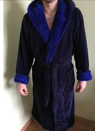 Мужской махровый халат. мужской махровый халат длинный с поясо...