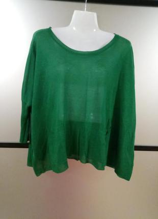 Акция 2=3. стильная сочная зелёная кофточка джемпер с рукавом ...