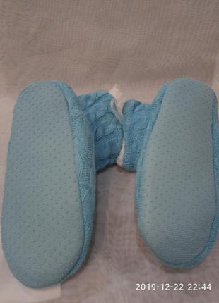 Детские голубые домашние тапочки-сапожки,в наличии цвета. 24-3...