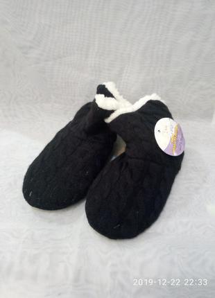 Детские чёрные домашние тапочки-сапожки,в наличии цвета. 24-35...