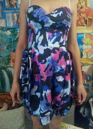 Lipsy london платье бюстье колокольчик плаття сукня