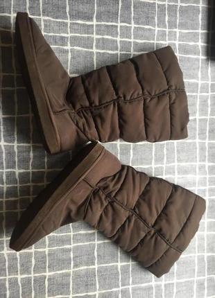 Шоколадные термо дутики. спортивные зимние сапоги 38р (24.5 см)
