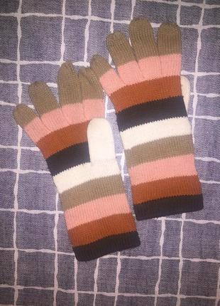 Распродажа! женские вязаные перчатки в пастельных тонах.