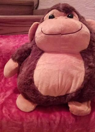 Детский комплект подушка-игрушка и плед. подушка-игрушка обезь...