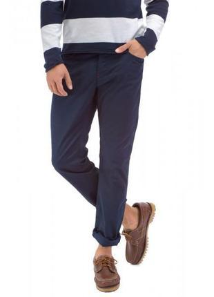 Мужские базовые синие зауженные брюки 33р m-l
