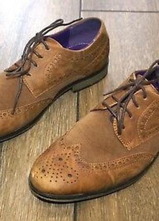 Оригинал оксфорды броги мужские туфли ботинки primark