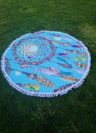 Пляжное полотенце коврик. полотенце для пляжа 100% хлопок. ест...
