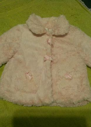 Курточка махровая пальто кофта mintini baby